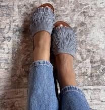 Sandals hadba fringes grey