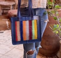 Bag jeans & rugbag combination blue colorful