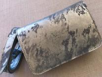 Beltbag Leather light blue silver