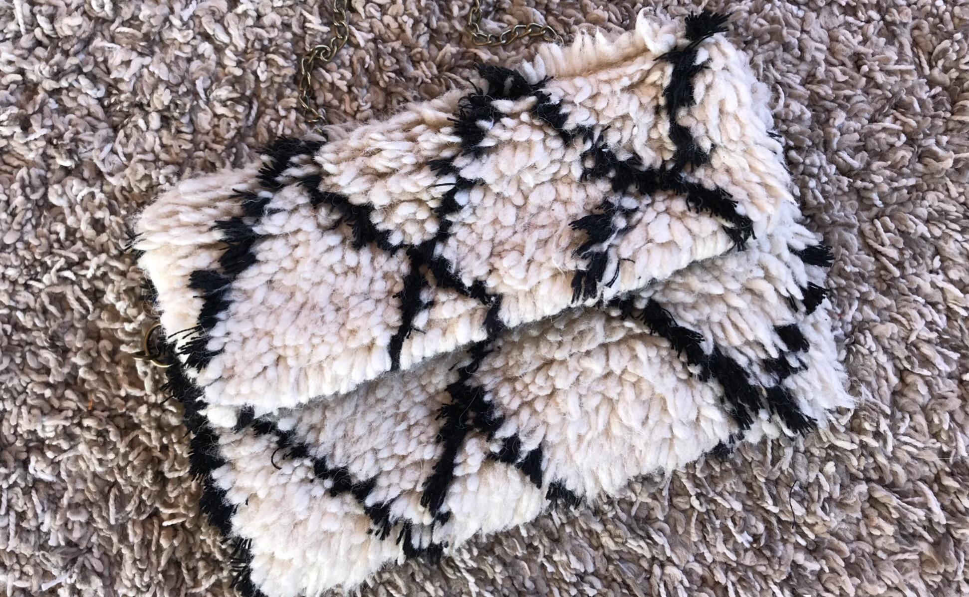 Rug bag white & black
