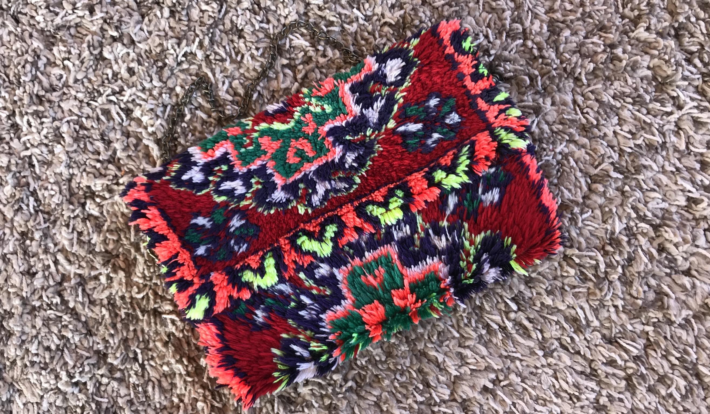 Rug bag vintage colorful