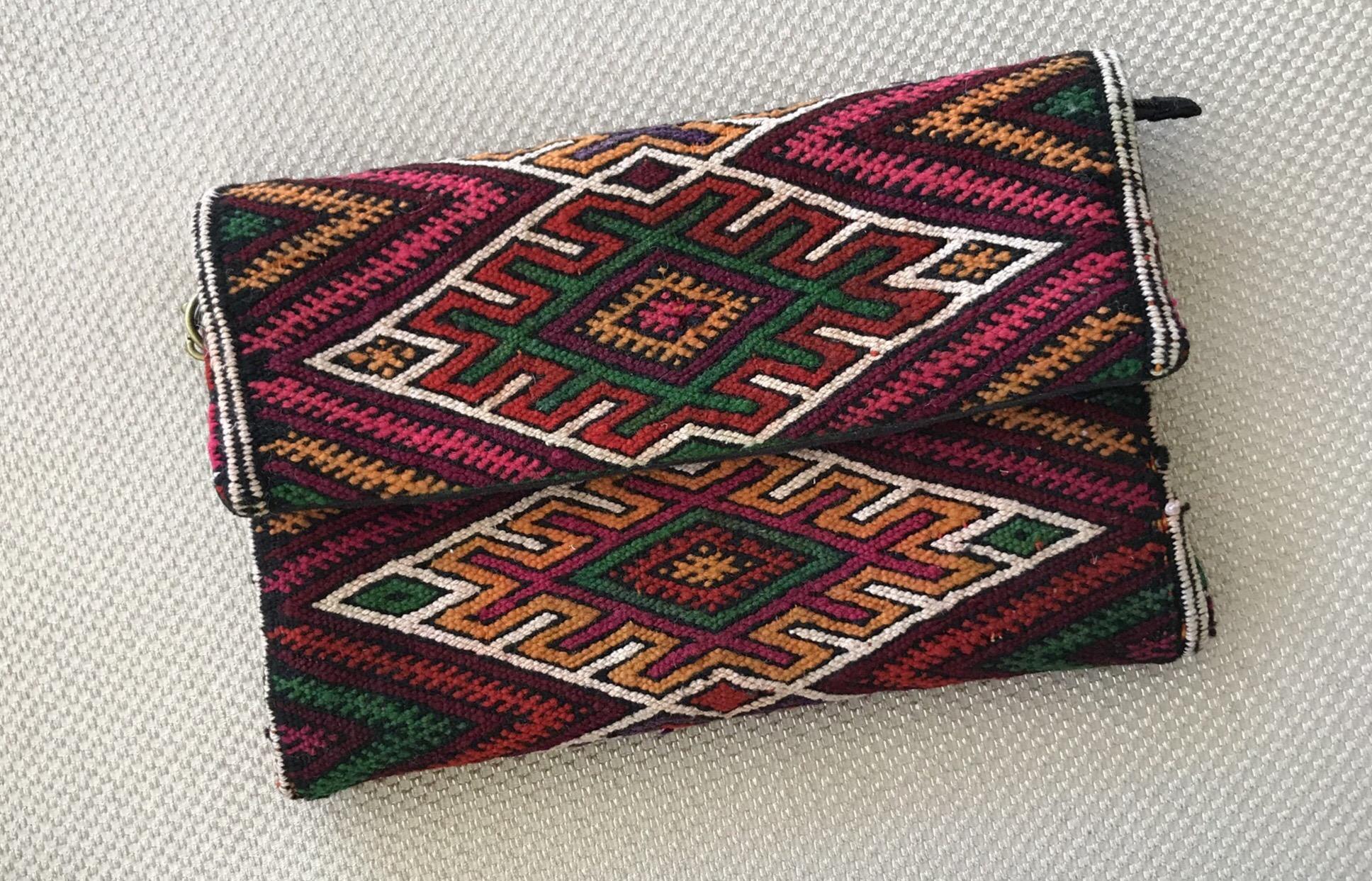 Rug Bag vintage kilim colorful