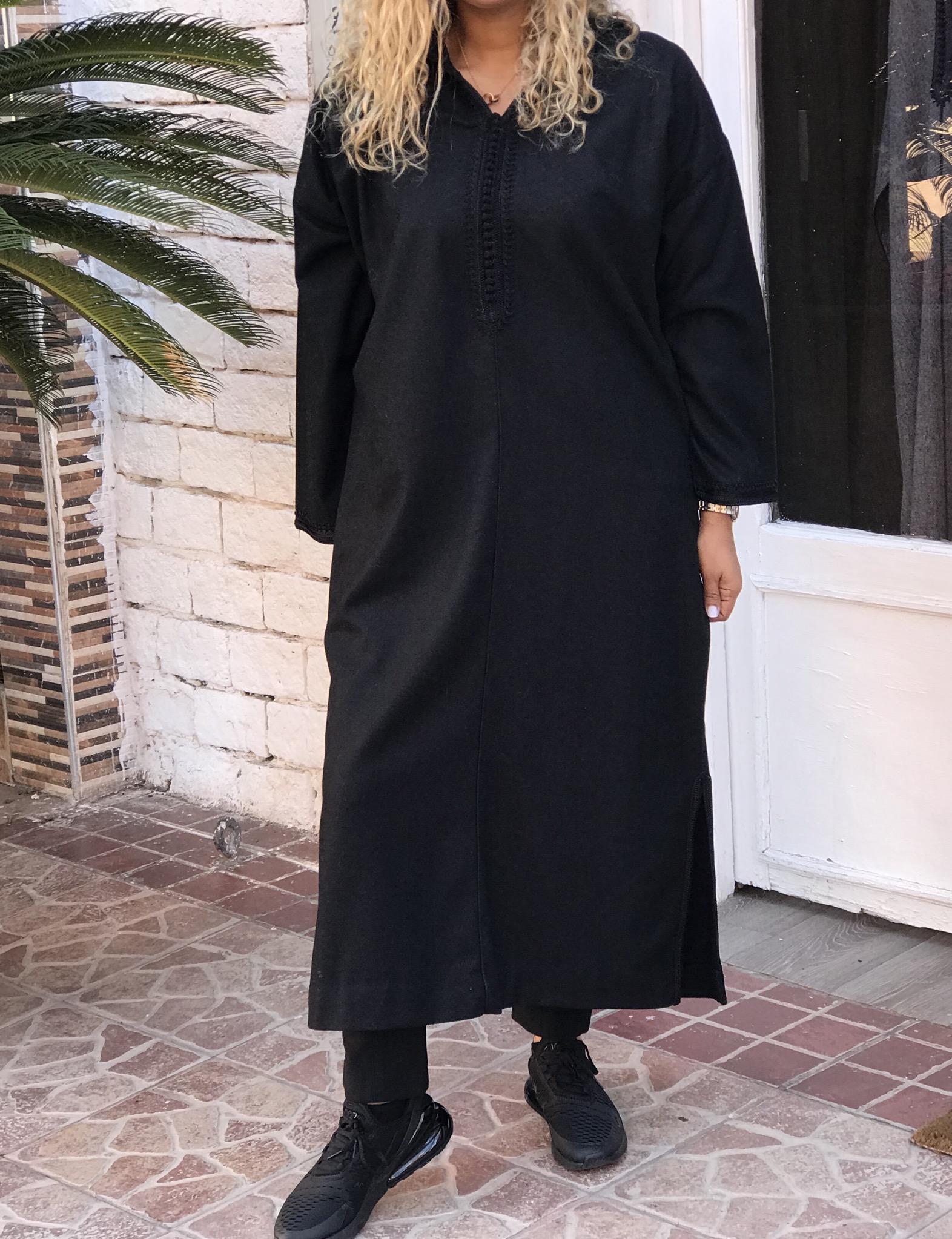 Djellaba tweed black sfifa & debbana black