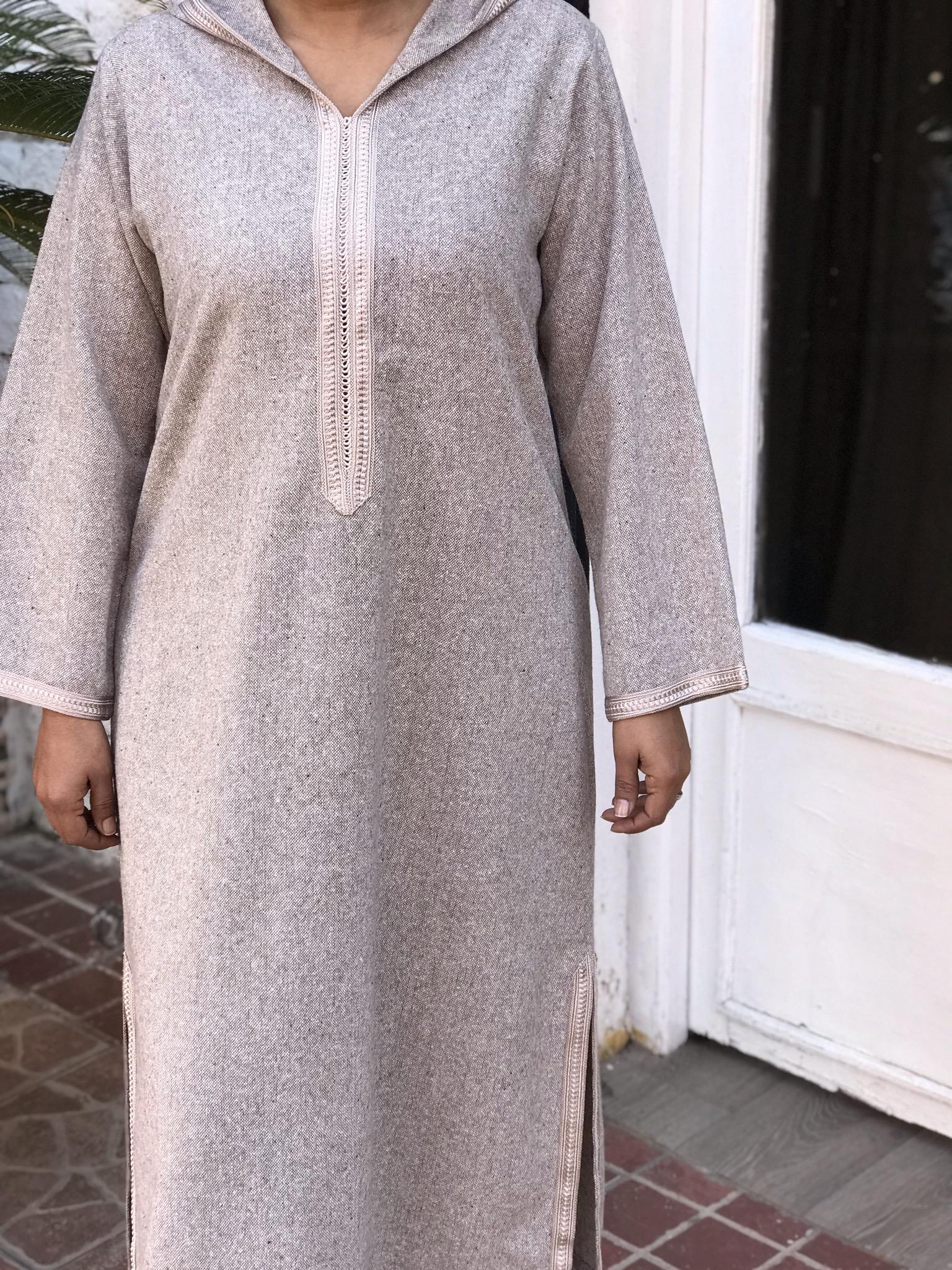 Djellaba tweed beige with sfifa beige