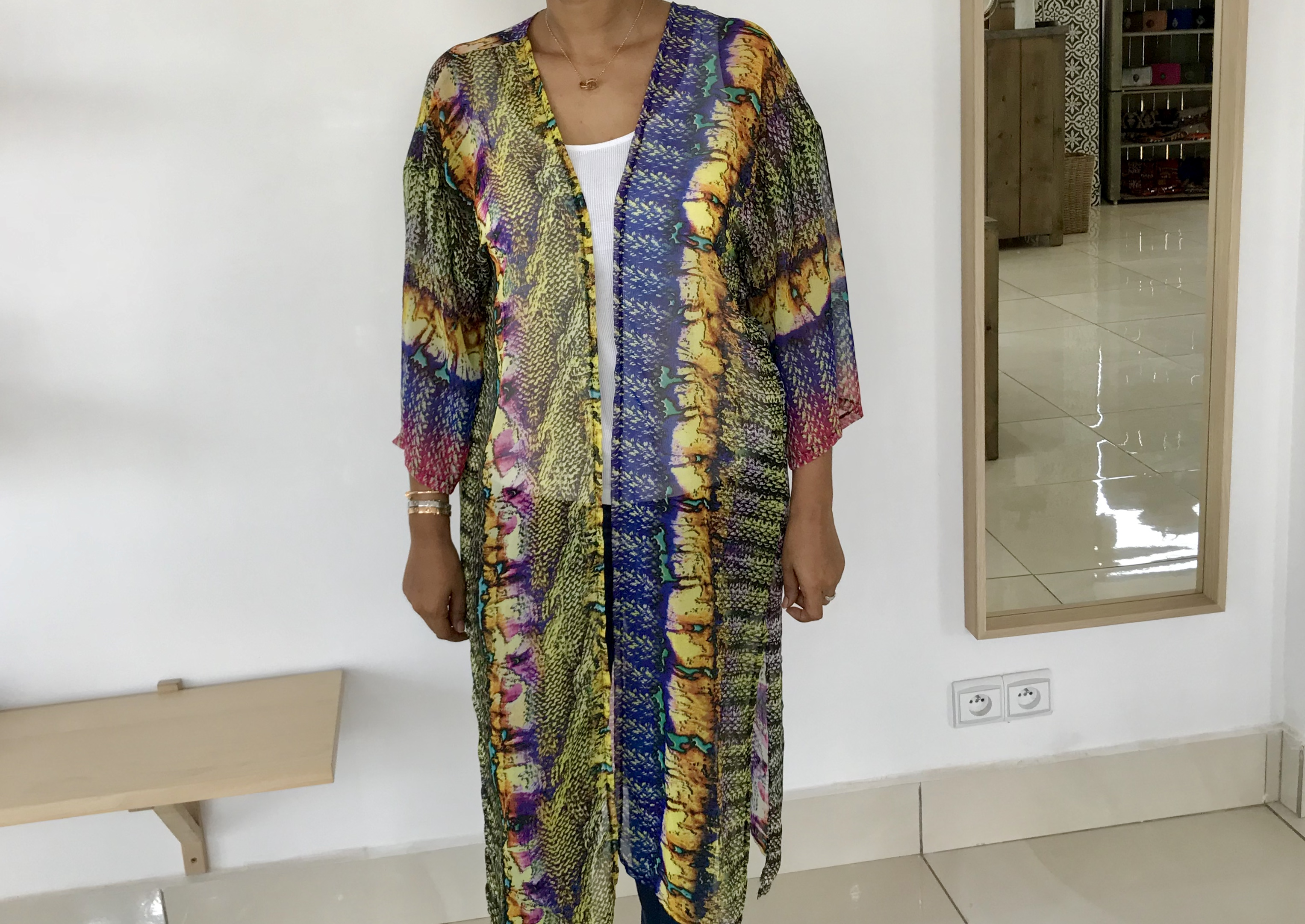 Kimono mousseline de soie