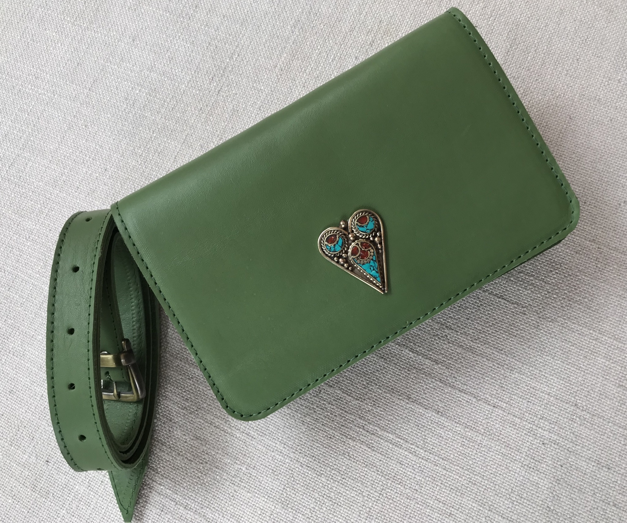 Beltbag Jewelery leather green