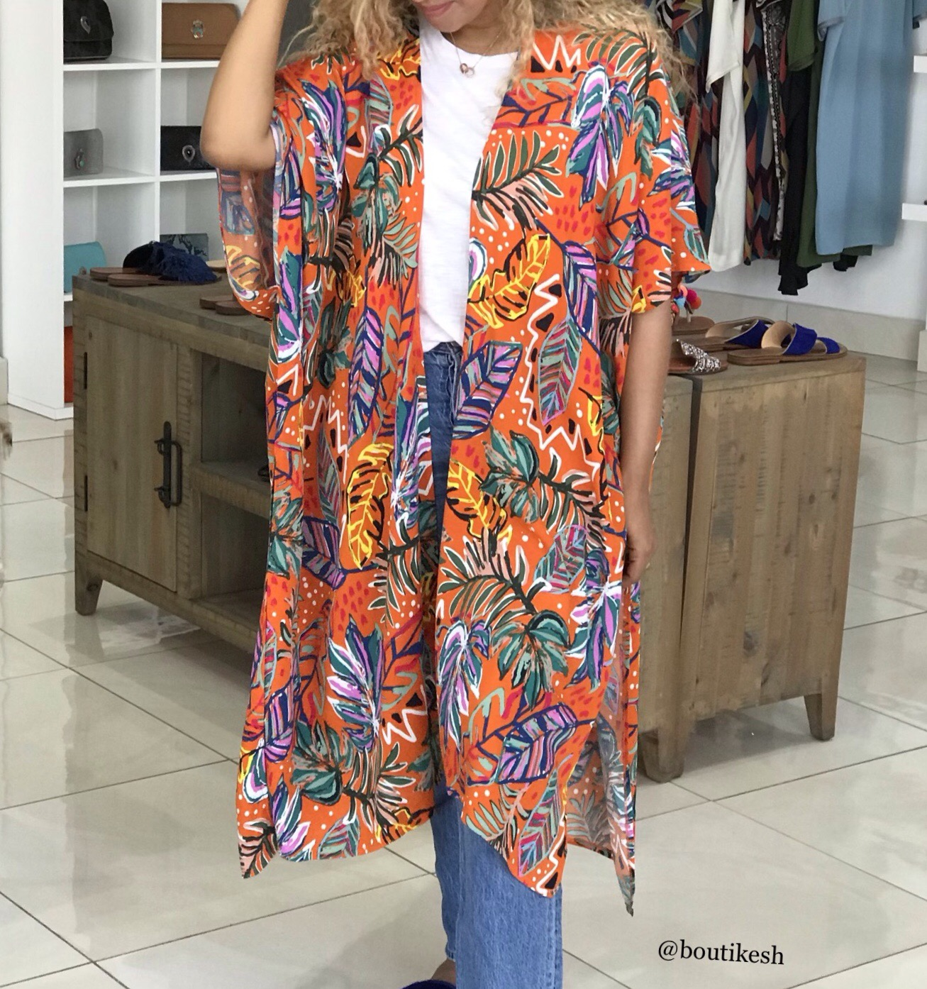Kimono crêpe de Chine colorful