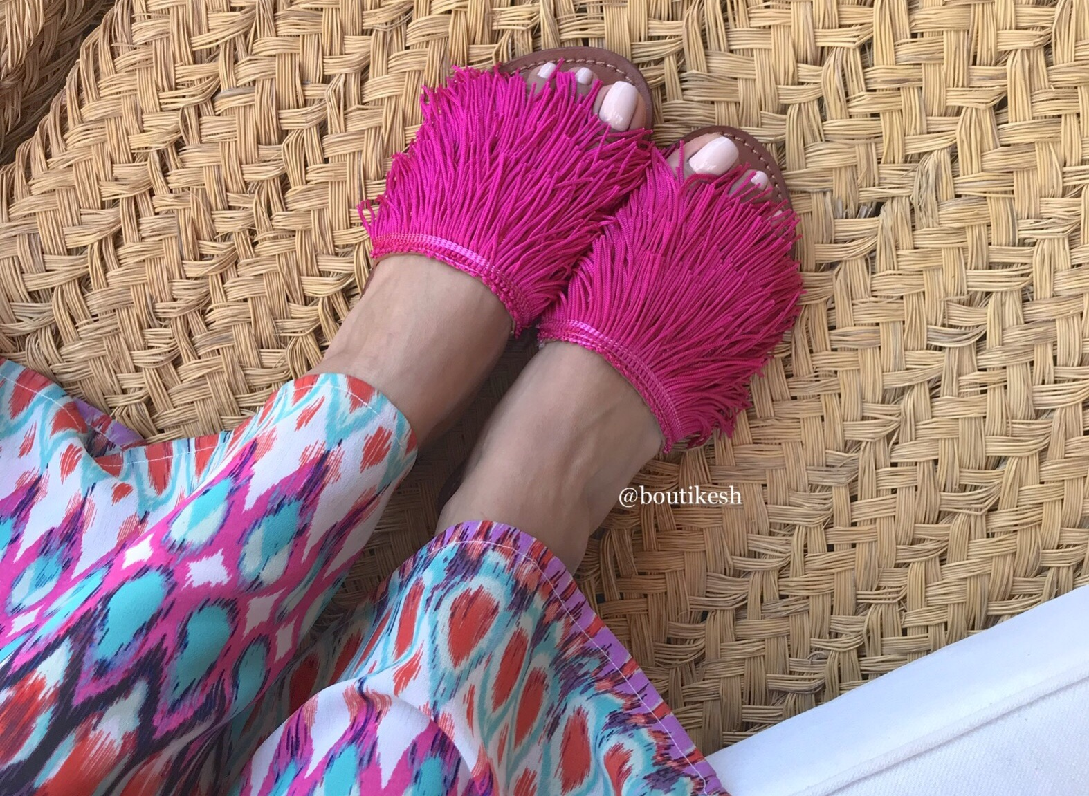 Sandals with fringes 'HDBA'