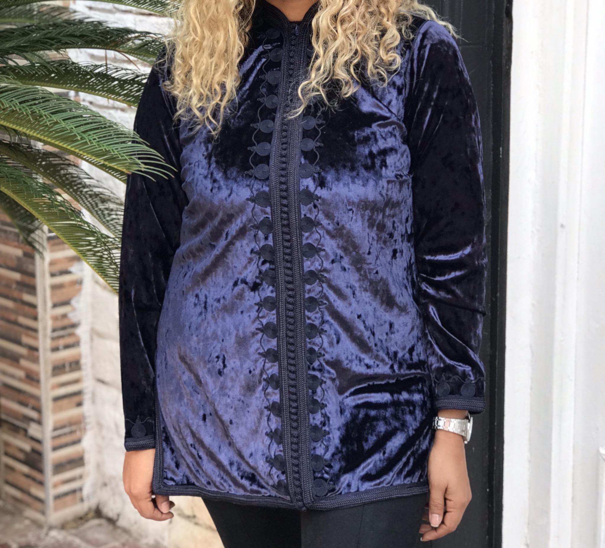 Tunic velvet blue with blue navy sfifa