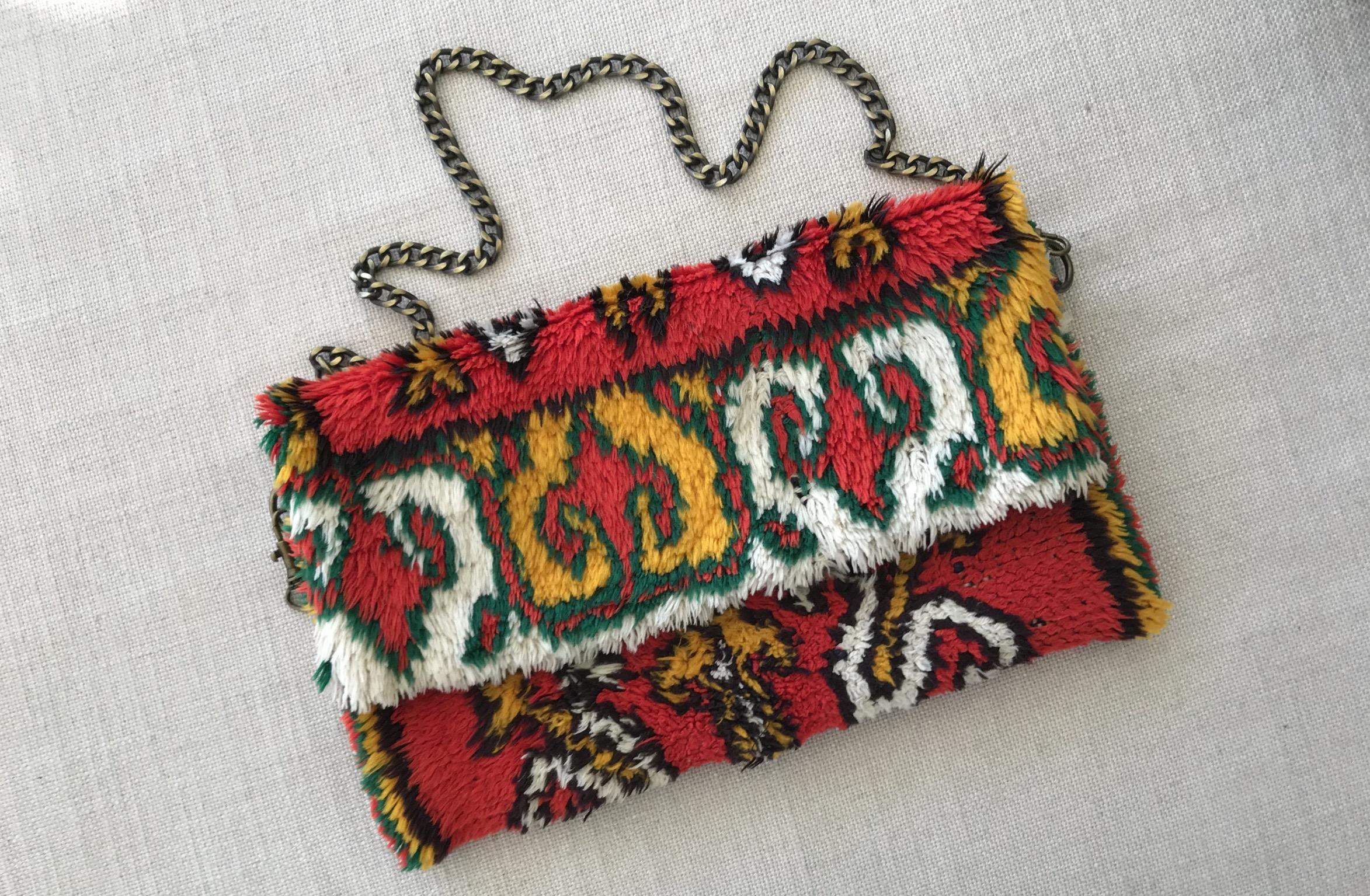 Rug bag vintage colorful boho