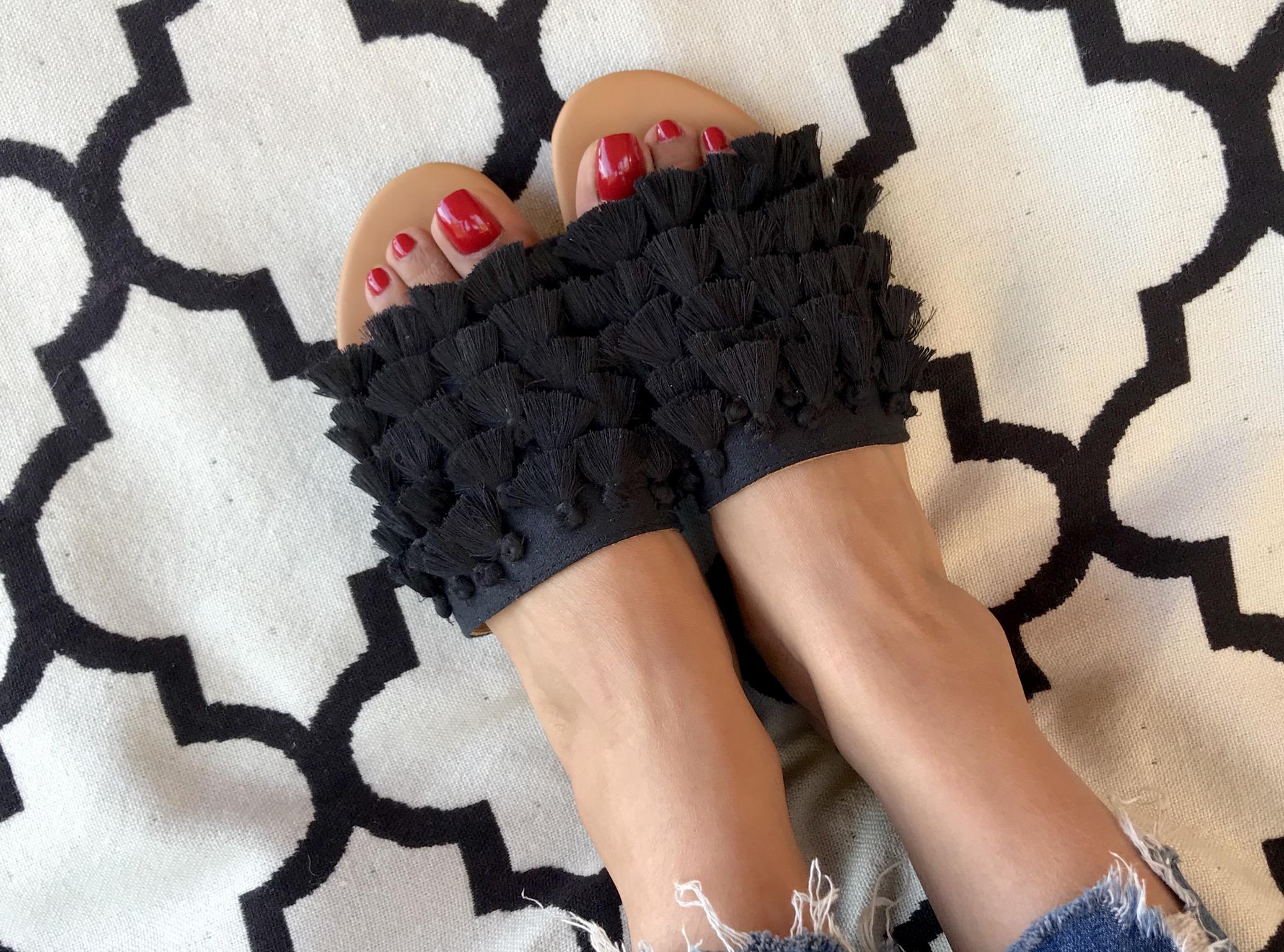 Sandals chachiates black
