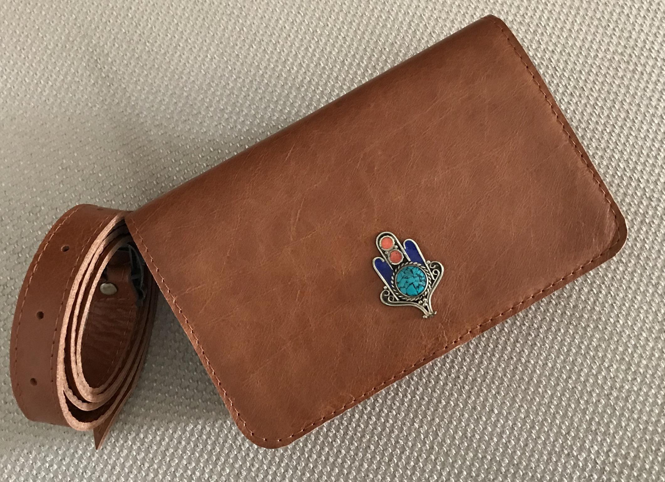 Belt Bag suede leather Croco camel