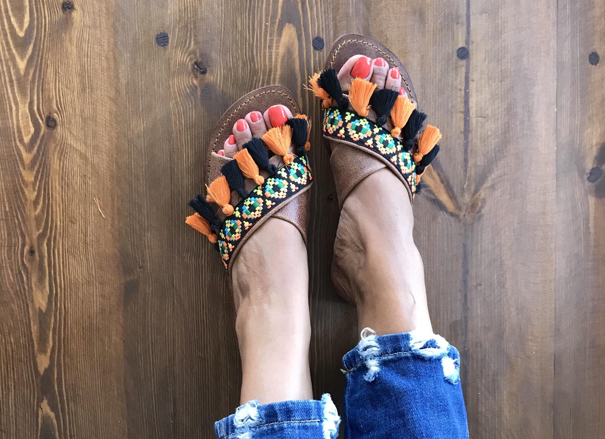 Sandals X chachiates orange black