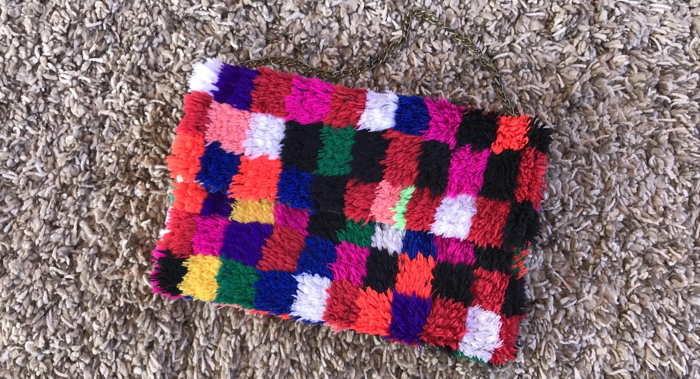 Rug bag vintage boho colorful