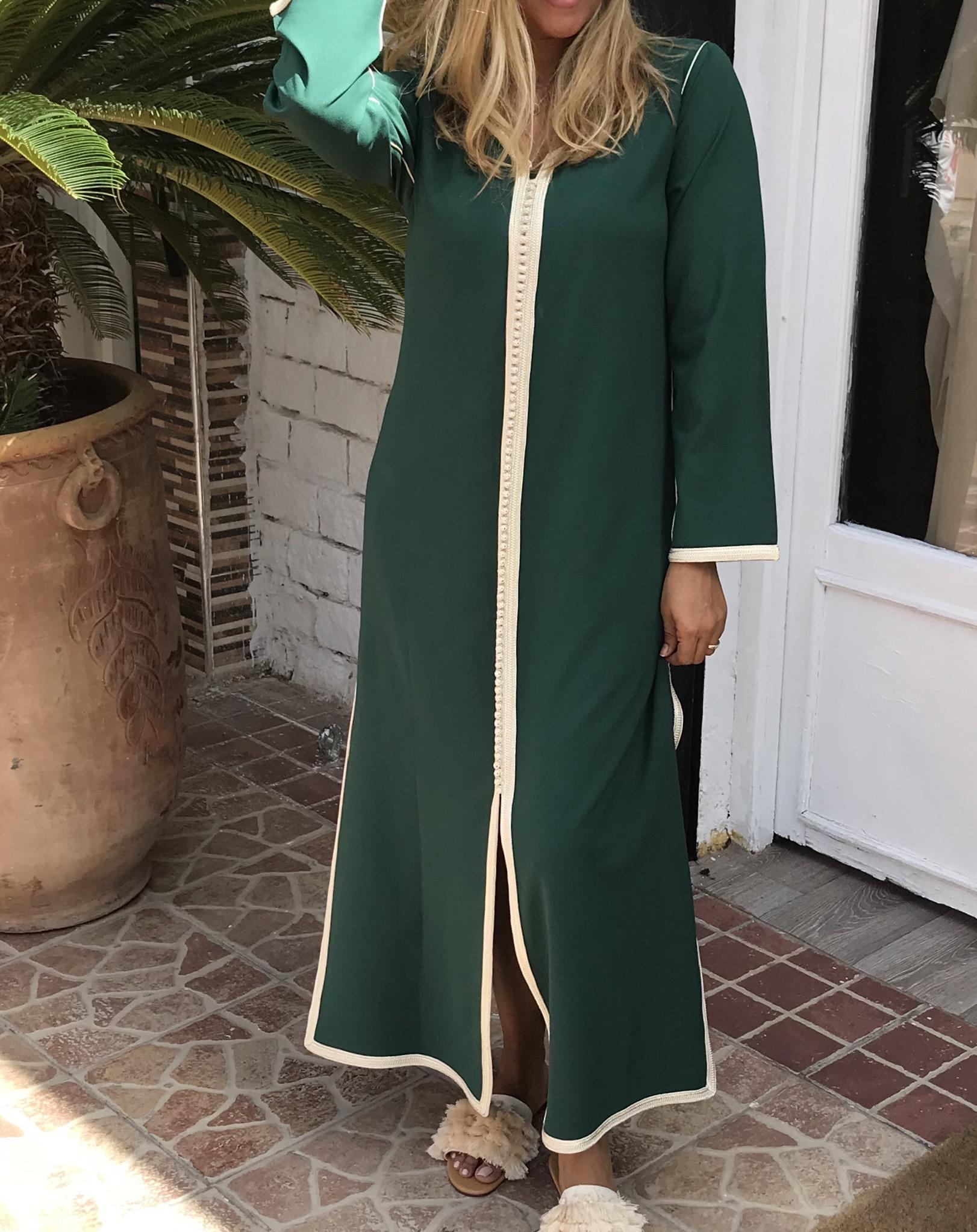 Tunic longue 2pieces green with cream sfifa