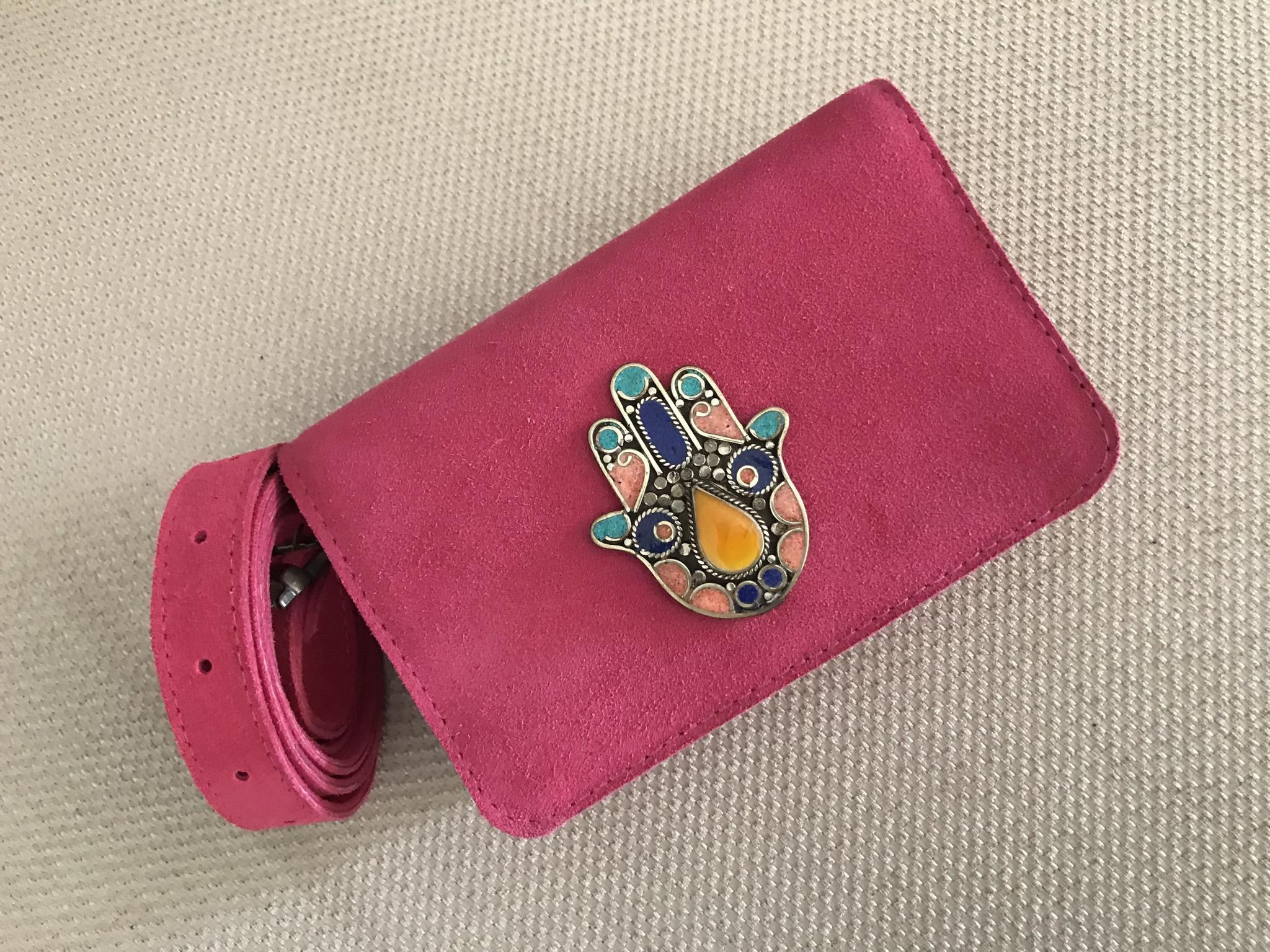 Belt Bag suedeleather pink
