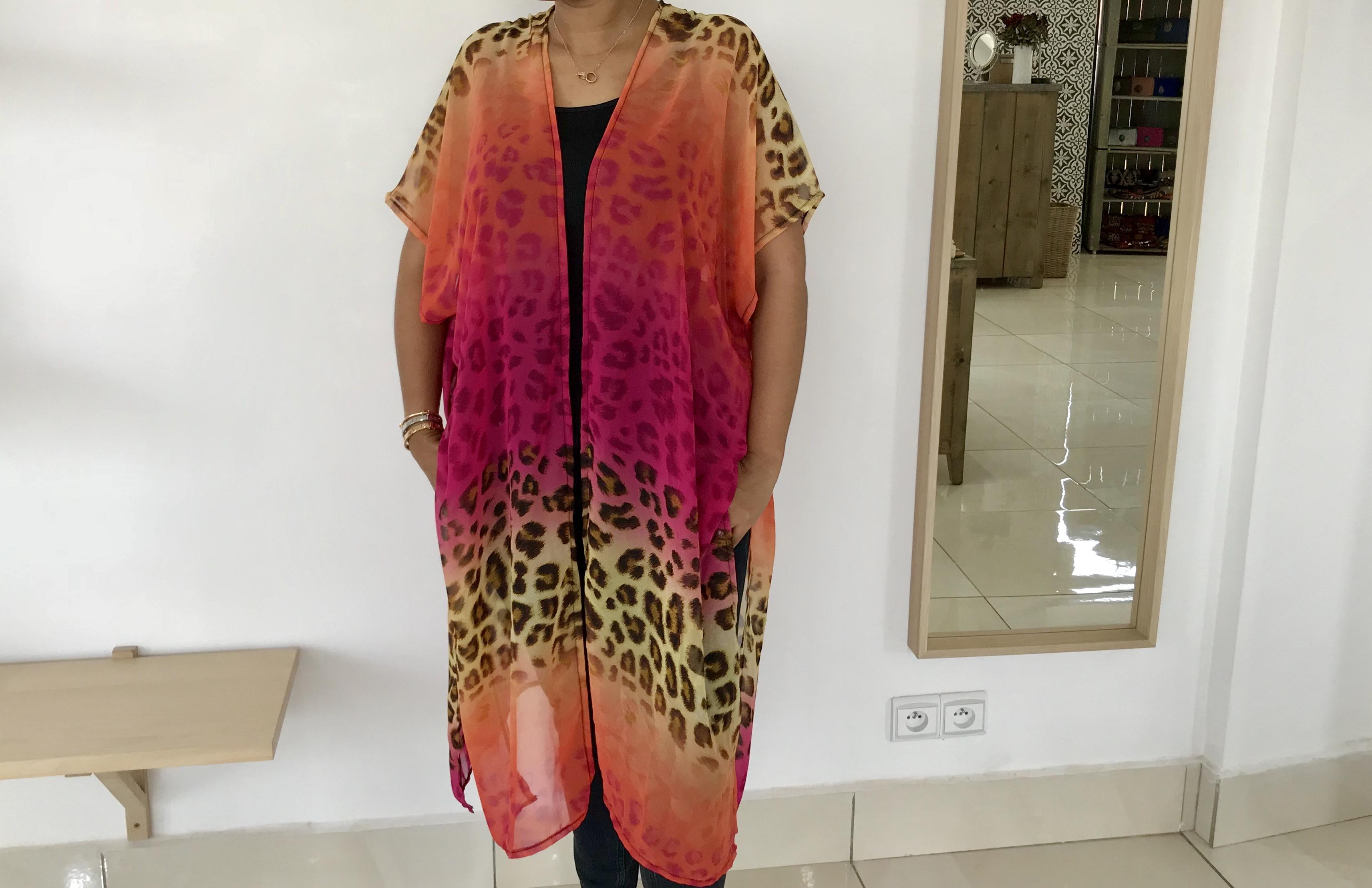 Kimono Mousseline de soie imprimé
