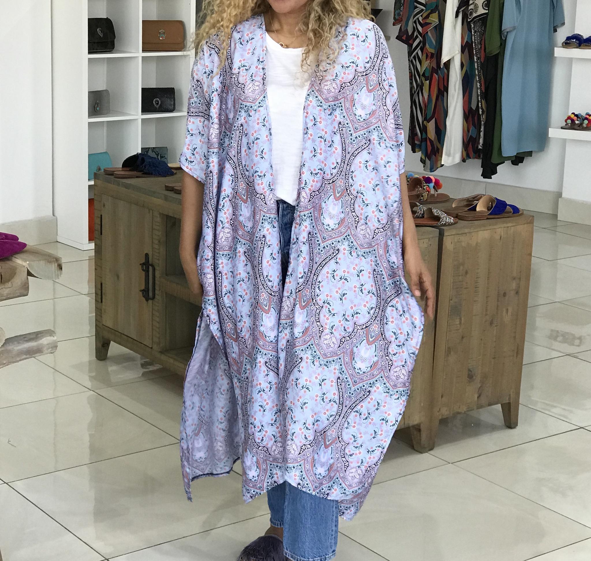 Kimono Mousseline de soie grey