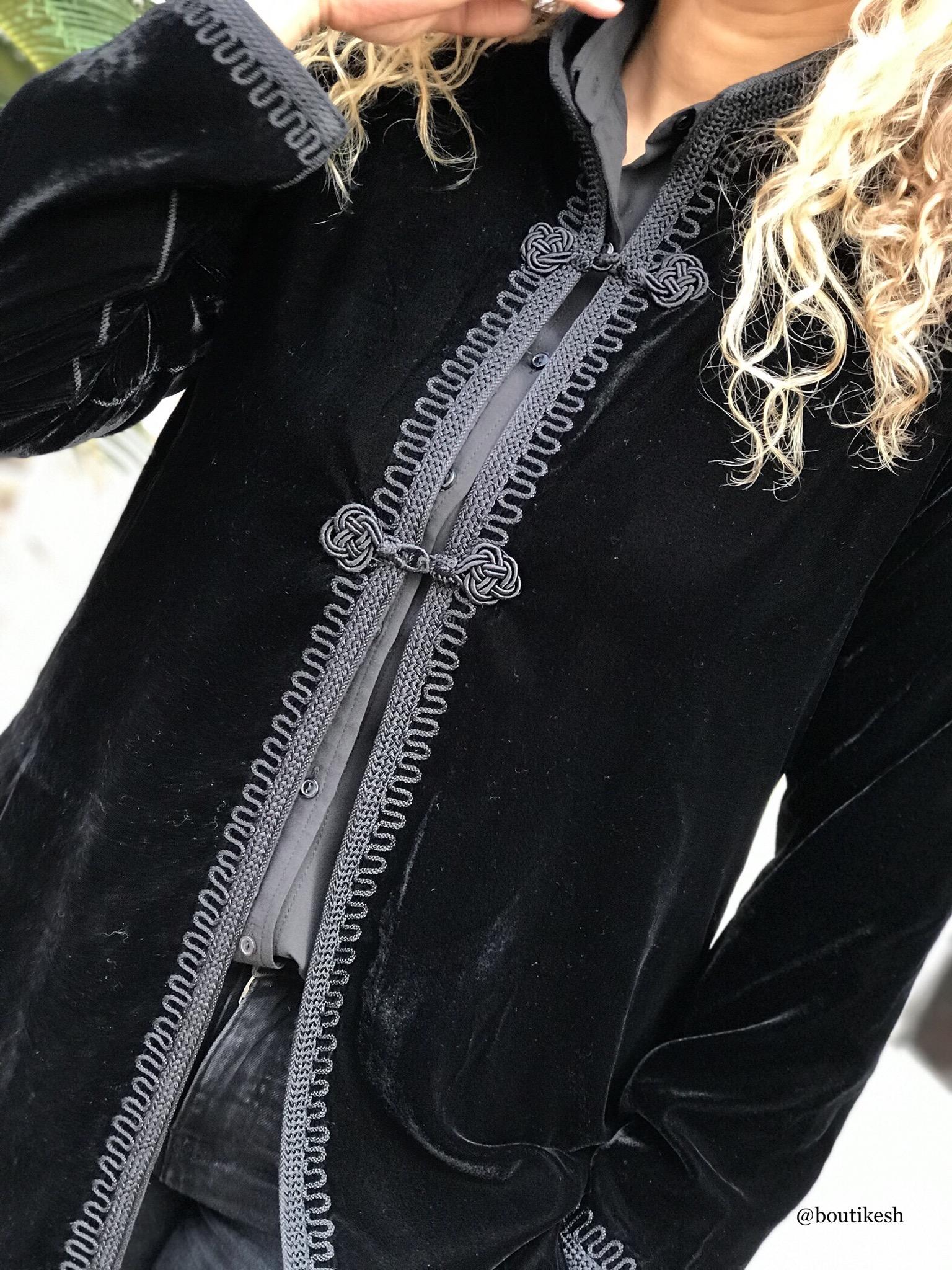 Jacket velvet black handmade