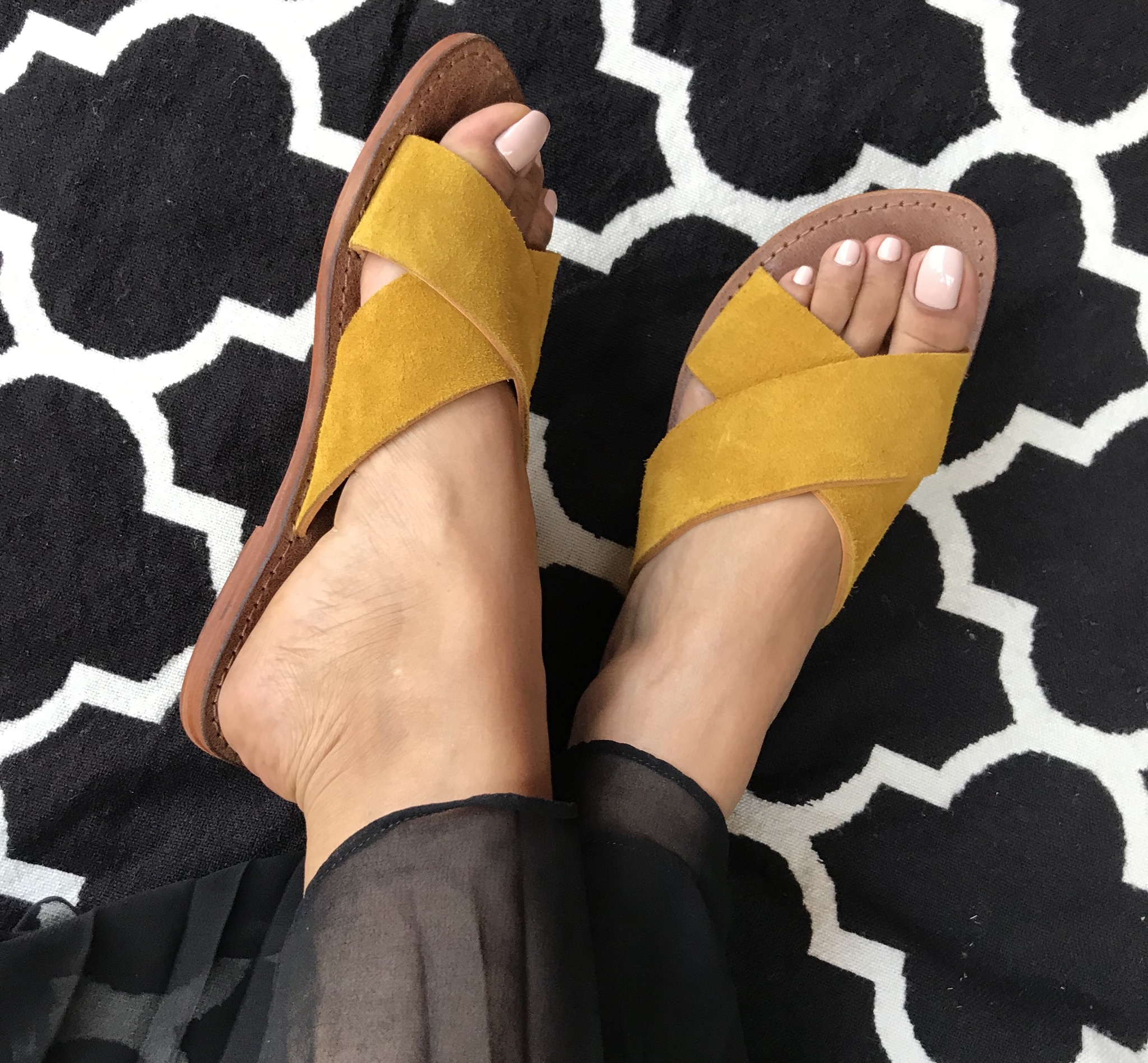 Sandales leather & Suede leather yellow
