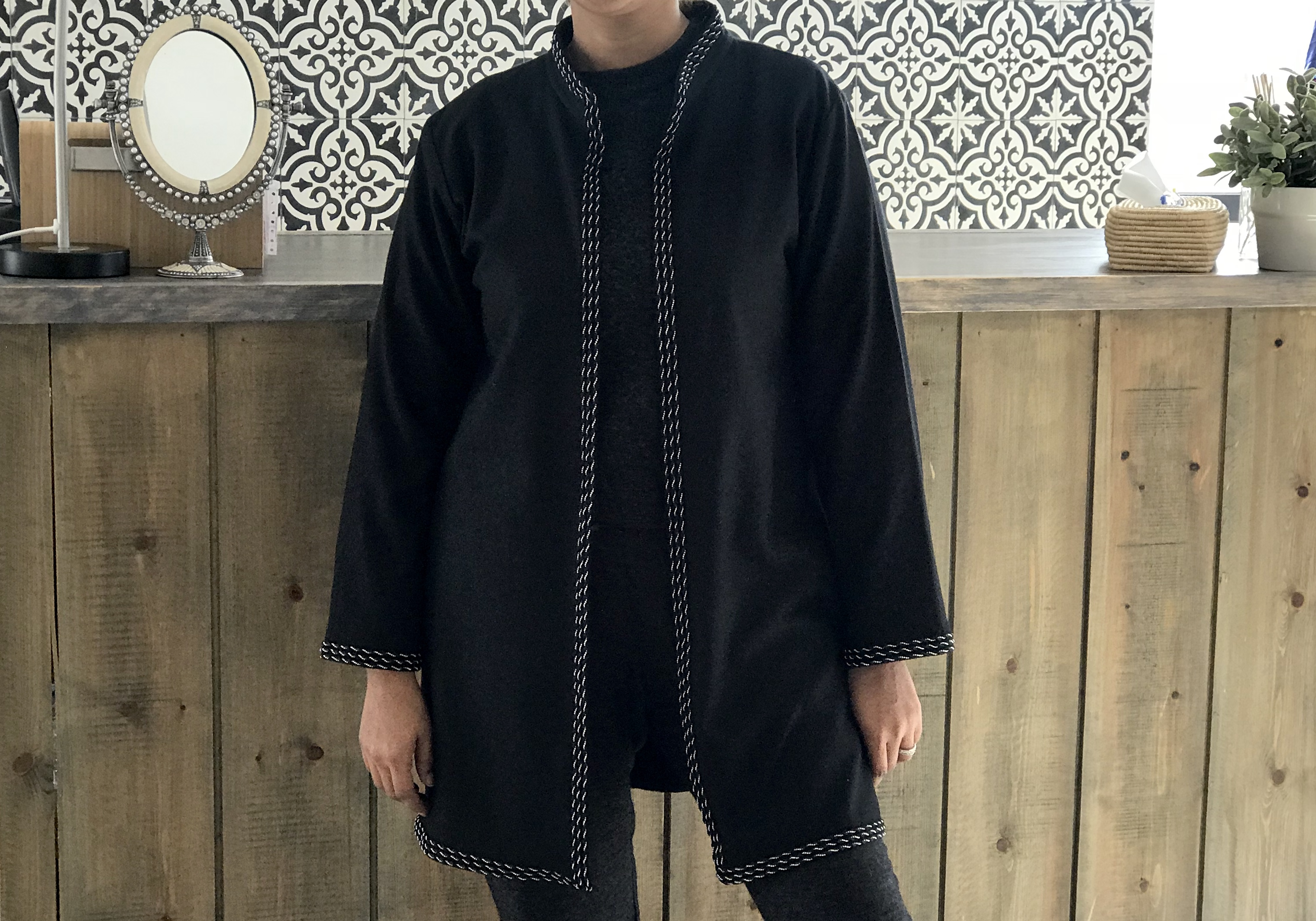 Coat flanelle black