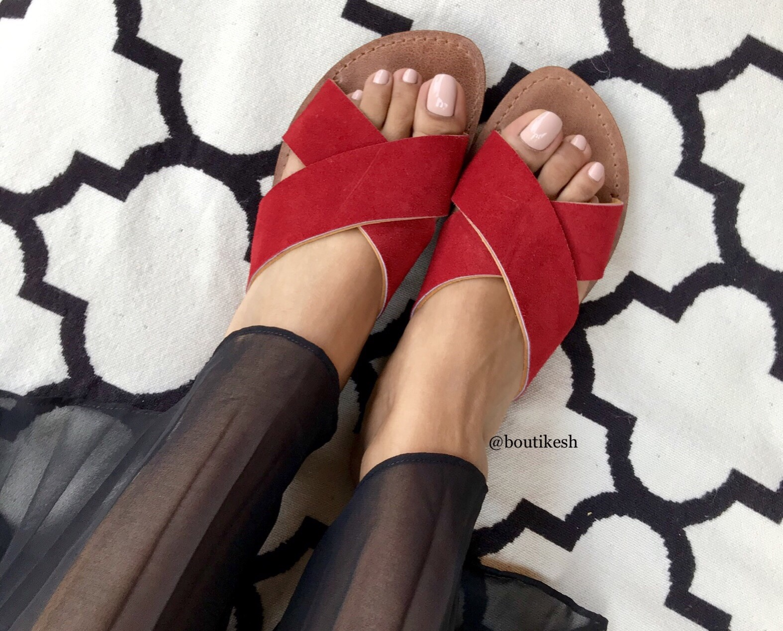 Sandals Leather & suede Leather red